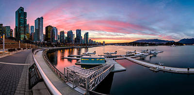 Stanley Park Photograph - Coal Harbour Sunset by Alexis Birkill