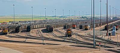 Coal Trains In Nebraska Rail Yard Print by Jim West