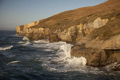 Photograph - Coast And Tunnel Beach Otago New Zealand by Colin Monteath