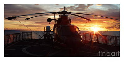 Helicopter Photograph - Coast Guard Helo by Mike Baltzgar