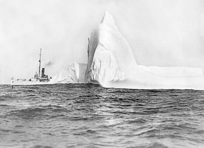 Coast Guard Tracks Icebergs Print by Underwood Archives