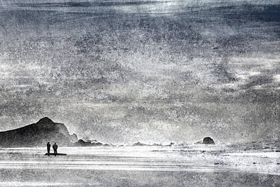 Emptiness Print featuring the  Coast Walk by Carol Leigh