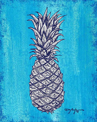 Pineapple Mixed Media - Coastal Art Escape The Pineapple by William Depaula