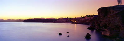Ra Photograph - Coastal City At Dusk, Ras Um Sid, Sharm by Panoramic Images