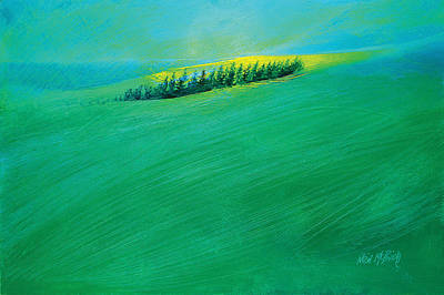 Hockney Painting - Coastal Copse by Neil McBride