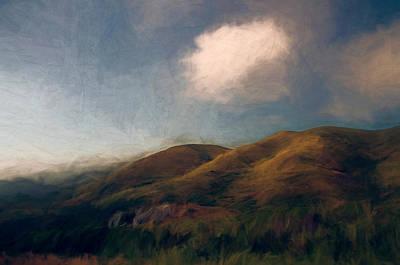 Hills Mixed Media - Coastal Hills by John K Woodruff