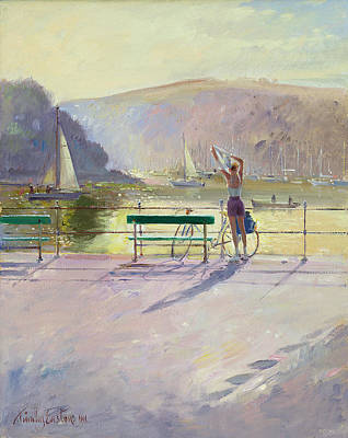 Bicycle Photograph - Coastal Rider by Timothy Easton