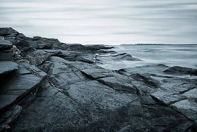 Coastal Rocks Print by Lourry Legarde