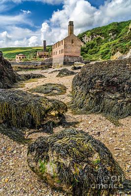 Factory Digital Art - Coastal Ruins by Adrian Evans