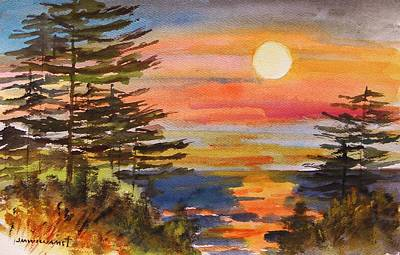 Seacoast Drawing - Coastal Sunset by John  Williams