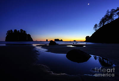 Coastal Sunset Skies Reflection Print by Mike Reid