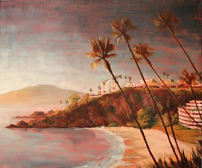 Tuscan Sunset Painting - Coastal View II by Christopher Clark