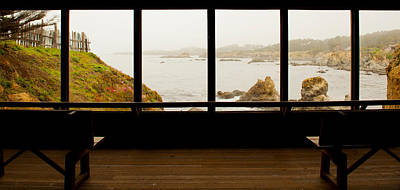 Coastal Viewed From A Shed At Mendocino Print by Panoramic Images