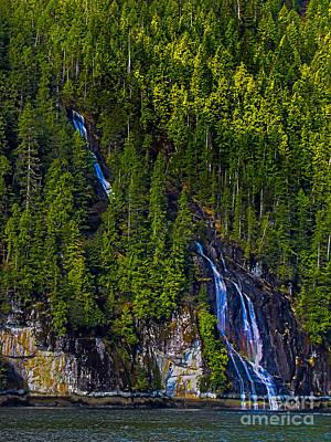 Coastal Waterfall Print by Robert Bales
