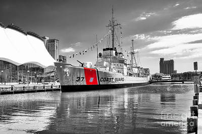 Old Glory Photograph - Coastguard Cutter by Scott Hansen