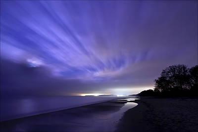Coastline At Night Print by EXparte SE