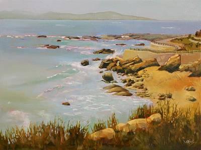 Impressionistic Landscape Painting - Coastline by Sue  Darius
