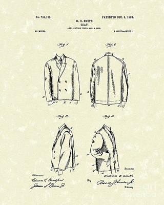 Coat Drawing - Coat 1903 Patent Art by Prior Art Design