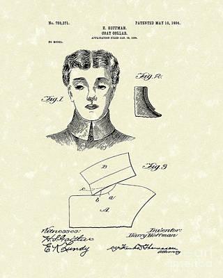 Adornment Drawing - Coat Collar 1904 Patent Art by Prior Art Design