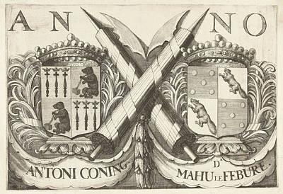 Coat Of Arms Of Antoni Coning Mayor Of Haarlem And Mahu Le Print by Romeyn De Hooghe