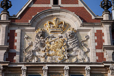 Relief Carving Photograph - Coat Of Arms Of The Netherlands by Artur Bogacki