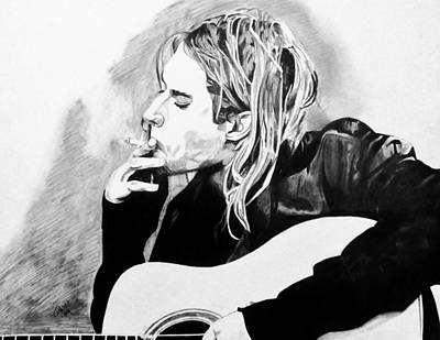 Kurt Cobain Drawing - Cobain by Jeremy Moore
