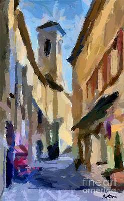 Poster Painting - Cobbled Street by Dragica  Micki Fortuna