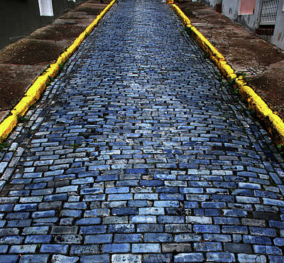 Cobblestones From Ship's Ballast Or Print by Miva Stock