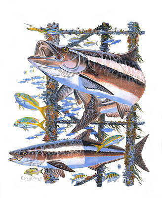 Ling Painting - Cobia Hangout by Carey Chen