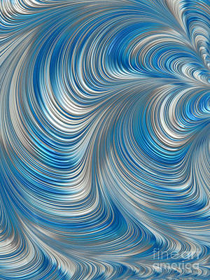 Chaos Digital Art - Cobolt Flow by John Edwards