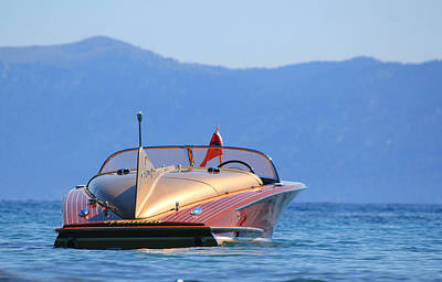 Wooden Boat Photograph - Cobra At Tahoe by Steve Natale