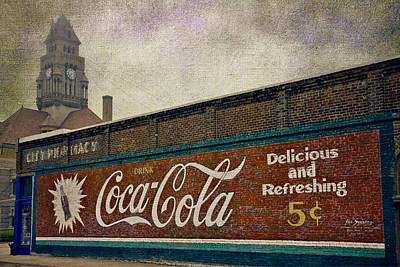 Vintage Signs Photograph - Coca-cola And A Courthouse by Joan Carroll