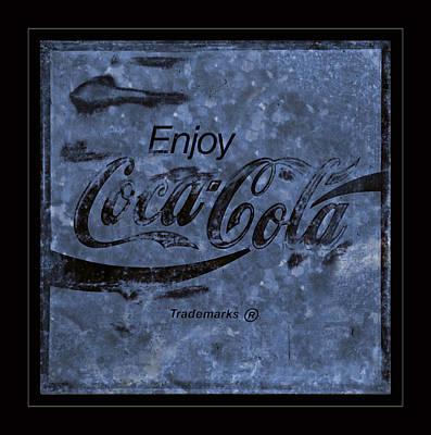 Coca-cola Sign Photograph - Coca Cola Blues by John Stephens
