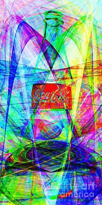 Wingsdomain Digital Art - Coca Cola Bottle 20130621di Long by Wingsdomain Art and Photography