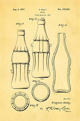 Coca Cola Bottle Patent Art 1937 Print by Ian Monk
