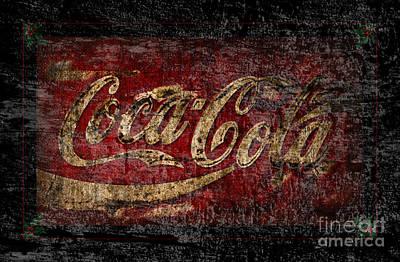 Coca-cola Sign Photograph - Coca Cola Christmas Blizzard by John Stephens
