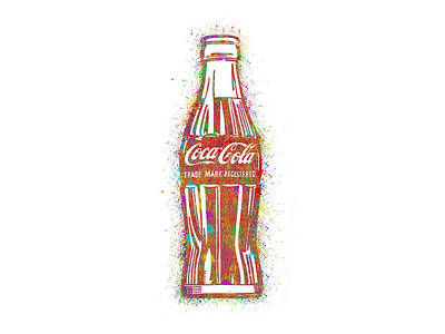 Red Digital Art - Coca Cola Colorful White by Raphael Campelo