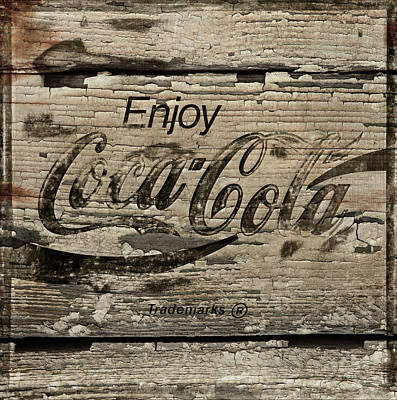Coca-cola Sign Photograph - Coca Cola Cracked Paint Sign by John Stephens