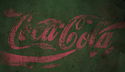 Coca-cola Sign Photograph - Coca Cola Grunge Pink Green by John Stephens
