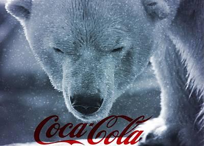 Bear Mixed Media - Coca Cola Polar Bear by Dan Sproul