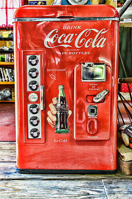 Quaint Photograph - Coca-cola Retro Style by Paul Ward