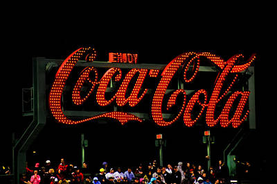 Sox Photograph - Coca-cola Sign At Fenway by Donna Doherty