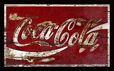 Coca-cola Sign Photograph - Coca Cola Sign Grungy Paint by John Stephens