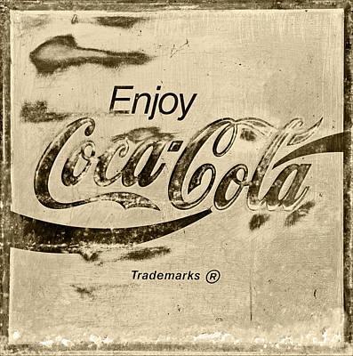 Coca-cola Sign Photograph - Coca Cola Sign Retro Style by John Stephens