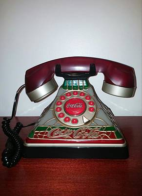 Coca Cola Vintage Phone Print by Earnestine Clay
