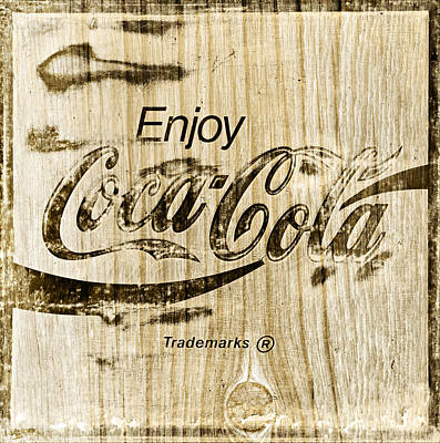 Coca-cola Sign Photograph - Coca Cola Wooden Sign by John Stephens