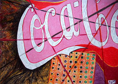 Coca-cola Sign Drawing - Coca by Daniel Janda