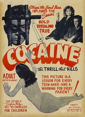 Cocaine Photograph - Cocaine Movie Poster by Jon Neidert