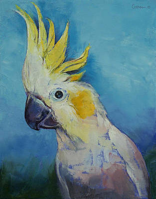 Cockatoo Painting - Cockatoo by Michael Creese