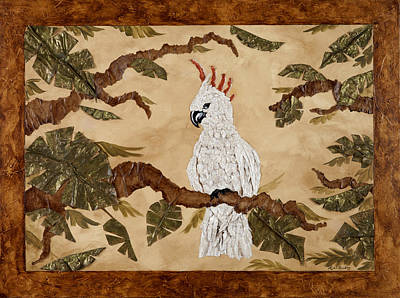 Cockatoo Mixed Media - Cockatoo Out On A Limb by Nickie Bradley